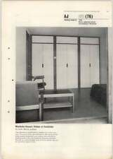1963 Wardrobe Fitment In College At Cambridge, Sir Leslie Martin