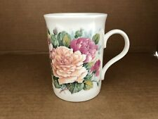 CROWN TRENT, ROSES,  ENGLISH FINE BONE CHINA COFFEE /TEA MUG - ENGLAND