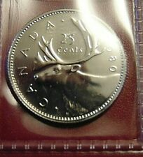 1980 CANADA quarter dollar twenty five 25 cents cent piece coin PL proof like