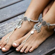 Women Boho Retro Barefoot Sandal Beach Anklet Foot Chain Anklet Bracelet Jewelry
