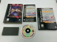 Sony PlayStation 1 PS1 CIB Complete Tested Wipeout Long Box w/ Sleeve & Foam