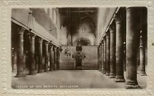 BETHLEHEM PALESTINE CHURCH OF NATIVITY ANTIQUE REAL PHOTO POSTCARD RPPC ISRAEL