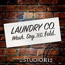 "Laundry Co. - Word Stencil - 14"" x 6"" - STCL1857_2 - by StudioR12"