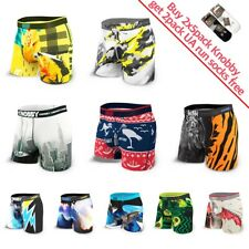 5 Pack Mens Knobby Boxer Brief Trunks Quick Dry size S-3XL