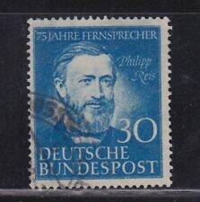 GERMANY 1952 130PFG PHILIPP REIS ISSUE USED SCOTT #693 CAT $15