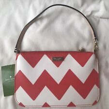 Kate Spade Women's Wristlet Red and White Gold Zip Top South of the Border Lolly