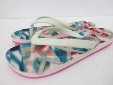 New! ROXY 'Playa' Multi-Color Sandal Flip Flops ARJL100667 Women's Size: 6