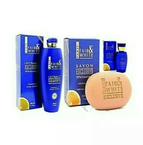 Fair and White Exclusive Whitenizer Vitamin C  3pcs Set.Lotion, Soap and Serum