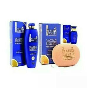 Fair and White Exclusive Whitenizer Vitamin C 5pcs Set.Lotion, Soap X3 and Serum