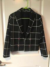 Express Women's Black White Stripe Blazer Size 2
