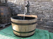 """Self contained 63cm diameter (25"""") lined barrel water feature - Pitcher pump"""