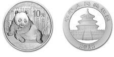 1 oz Unze 999 Silber Münze Silver China Panda 2015 10 Yuan in Kapsel NEU TOP