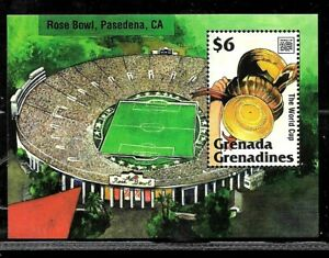 #9072 GRENADA GRENADINES SPORTS SOCCER FOOTBALL WORLD CUP 94 S/S YV BL 303 MNH