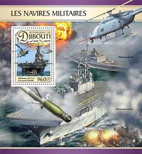 Yibuti 2016 estampillada sin montar o nunca montada barcos USS Essex helicópteros militares CH-53E 1v s/s Sellos