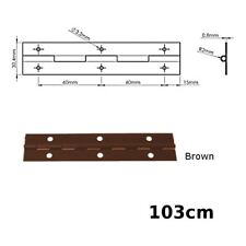 1030mm (1m) CONTINUOUS METAL PIANO HINGE ALL COLOURS