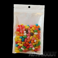 100 Premium Ziplock Clear Plastic White Bags Wholesale Lot