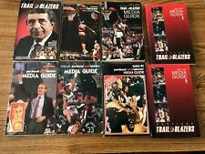 PORTLAND TRAIL BLAZERS MEDIA GUIDE 8 Lot 1980-81, 1988-89, 1989-90, 1990-1991
