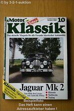 Motor Klassik 10/86 Jaguar Mk 1 & 2 Opel AeroGT