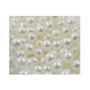 1000 Dekoperlen Dekokugeln Bastelperlen lose Perlen ohne Loch 5mm weiss