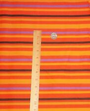 RTC  Orange Black Gold Purple Stripe Halloween Cotton Fabric Quilt Sew BTY