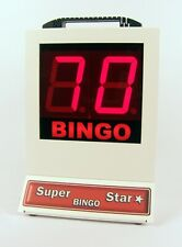 Super Star Electronic Bingo Machine UK Made 2 YR warranty 1-90 number selector
