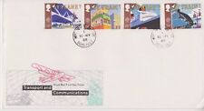 UNADDRESSED GB ROYAL MAIL FDC 1988 TRANSPORT & COMMUNICATIONS SET HINTON PMK