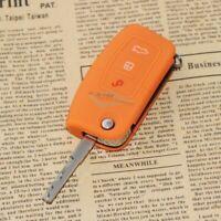 Schlüsseltasche Schlüsseletui Silikon Key Cover ORANGE für FORD FOCUS 2