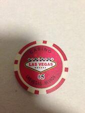 Pokerchip Casino Las Vegas Chip 5,- $ NEU