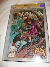 Uncanny X-Men #266 CGC SS 7.5 signed Chris Claremont 1st GAMBIT Signature Direct