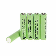 5pcs AAA Solar Light 1.2V 600mAh Green NiMH Rechargeable Batteries For Lights