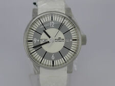 NEW SWISS Fortis Spacematic white dial 100m auto date day SS sport watch