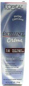 Loreal Excellence Creme Permanent Haircolor 7.43Dark Copper Golden Blonde 1.74oz