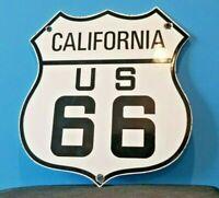 VINTAGE ROUTE 66 PORCELAIN METAL GASOLINE AUTO HIGHWAY CALIFORNIA USA SIGN