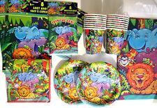 SMILING SAFARI - Birthday Party Supply Set DELUXE Kit w/ Treat Bags & Invites !!