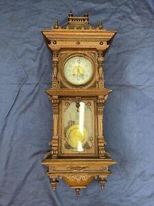 Lenzkirch Prunk Regulator Gründerzeit Historismus Wanduhr Pendeluhr Antik Uhr
