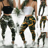 Women's Camouflage Camo Cargo Pants Military Army Combat Casual Trousers