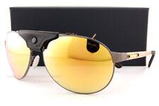 Brand New Chopard Sunglasses SCH 932 K10G Gunmetal/Black Leather/Gold Mirror