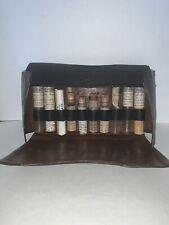 Antique Doctor Travel Kit Bag Apothecary Pharmacy Bottles, Bandages, MEDICINE