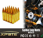 20 Aluminum Spike Tuner Extended Lug Nuts for Wheels Rims M12X1.5 60mm GOLD