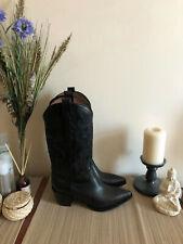 JEFFREY CAMPBELL DAGGET western cowboy boots NEW black golden goose RARE!