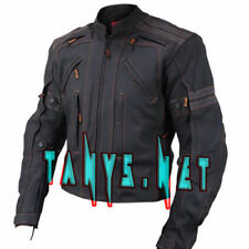 Black Motorcycle Jackets Cowhide Leather Exact Back