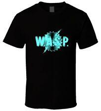 "Black Men T Shirt "" WASP Band Heavy Metal 2 "" Size S M L XL"