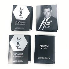 Cologne SAMPLE LOT of 4 Yves Saint Laurent YSL L'Homme Armani Code Mont Blanc