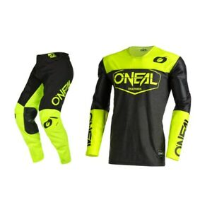 Oneal Youth Mayhem Hexx Black/Yellow Jersey Pant Combo