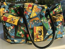 Vintage Disney Mickey Mouse Around The World Travel Tote, China Mexico France