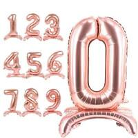 """32"""" Standing Digital Foil Balloons 3D Gold Silver Rose Gold Birthday Party Decor"""