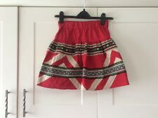 Ladies size 8 petite red mix short skirt from ASOS