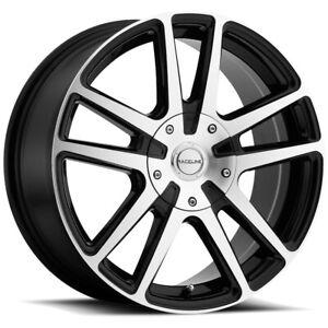 17 Inch Raceline 145M Encore 17x7.5 5x112/5x120 +40 Black/Machined Wheel Rim