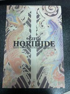 Horihide Japanese Tattoo Design Book - Kazuo Oguri Tebori Irezumi Horimono Art