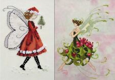 Set of 2 Pixies - Christmas Elf & Holly - Cross Stitch Chart - Free Post